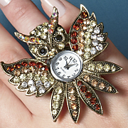 owl watch stretch ring
