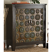 cirque embossed medallion cabinet