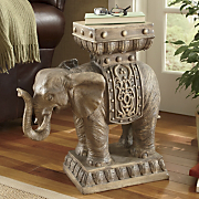 hand painted elephant table