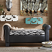 zebra storage bench