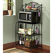 grape beaded microwave cart