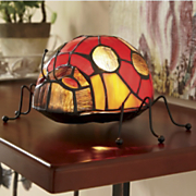 stained glass ladybug lighted accent