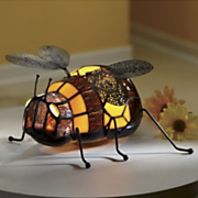 stained glass bumblebee lighted accent