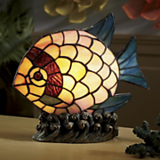 stained glass fish lighted accent