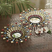 set of 2 dazzle mirror trays