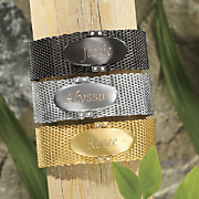 Mesh name Bracelet With Crystal Accents