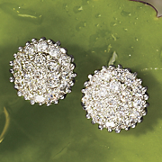 Cubic Zirconia Cluster Post Earrings