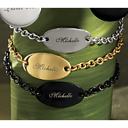 Name Oval plaque Bracelet
