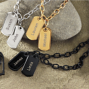 Two name Dog Tags Bracelet