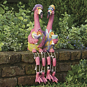 flown the coop flamingo couple