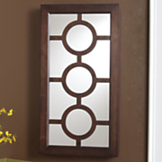 Circle Wall Mount Jewelry Mirror