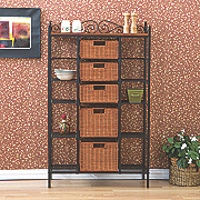 Manilla 5 Drawer Bakers Rack