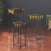 Mardi Gras 3 Pc Accent Table Set