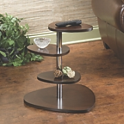 Espresso Wood Grain Contemporary Accent Table