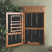 Mission Wall Mount Jewelry Armoire