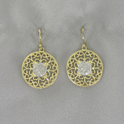 Round cut out Earrings