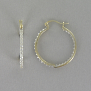 14k Gold Over Sterling Silver Hoops