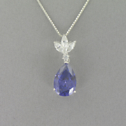 Blue Pear drop Pendant