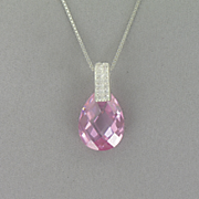 Pink Pear drop Pendant