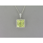 Lime Square Pendant