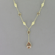 Cubic Zirconia Y necklace