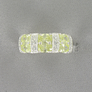Round oval Cubic Zirconia Band