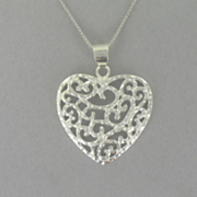 Scroll heart Pendant