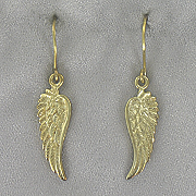 14k Gold Over Sterling Silver Wing Earrings