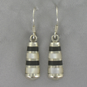 Onyx mother of pearl Earrings