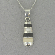 Onyx And Mother of pearl Pendant