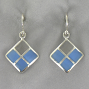 Lapis Square Earrings