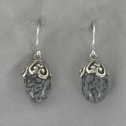 Obsidian Scroll Earrings