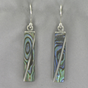 Abalone Shell Bar Earrings