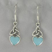 Turquoise Heart link Earrings