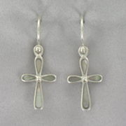 Mothe of pearl Cross Earrings