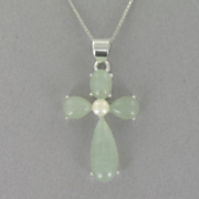 Jade Cross Pendant C