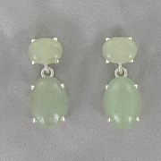 Jade Double round Earrings