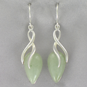 Jade Wire Earrings