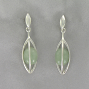Jade Cage Post Earrings