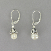 Pearl Leverback Earrings