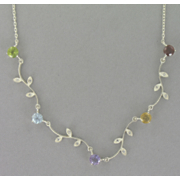 Vine Gemstone Necklace