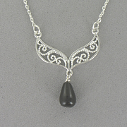 Onyx Pear Drop Necklace