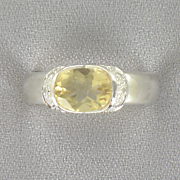 Citrine Oval Band