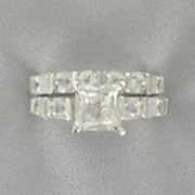 White Topaz Bridal Set