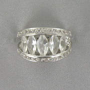 White Topaz Marquise Ring