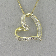 Diamond Heart Pendant C