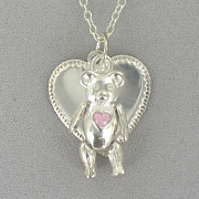 Personalized Heart bear Pendant