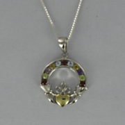 Gemstone Claddaugh Pendant