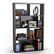 Monaco Bookcase And Display Case In Espresso