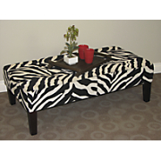 Large Zebra Print Coffee Table